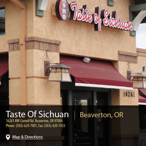 Taste of Sichuan Restaurant, Award Winning Chinese Food Beaverton